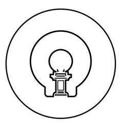 Mri diagnostic icon in circle outline vector