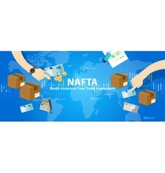NAFTA North American Free Trade Agreement vector