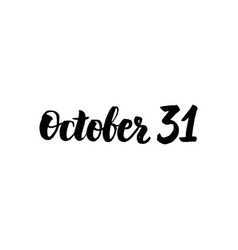October 31 lettering vector