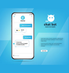 online chatbot app with messages on realistic vector image