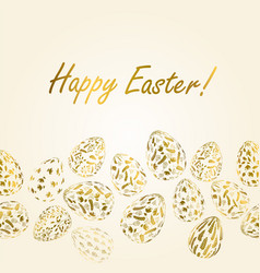 Pattern with realistic easter eggs seamless vector