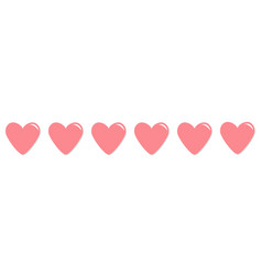 pink heart shining icon set line happy valentines vector image