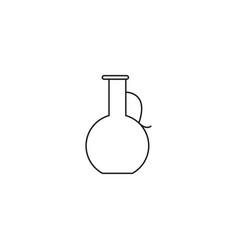 pitcher line icon vector image