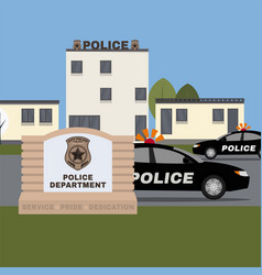 police station image vector image