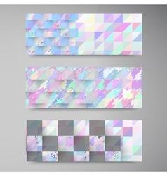polygon banner white 80913 vector image