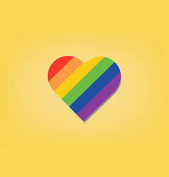 Pride lgbt rainbow heart love abstract background vector