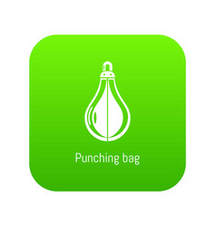 punching bag icon green vector image