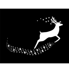 Reindeer with stars and glitter vector