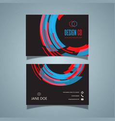 retro styled business card vector image