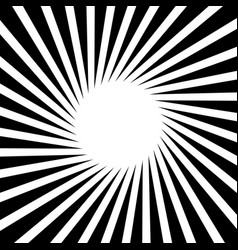 rotating starburst rays beams with rotating vector image