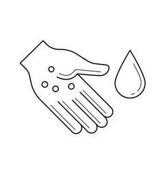 Sanitation hand washing line icon vector