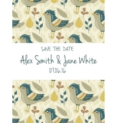 Save the date invitation card vector image