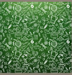 School doodles chalkboard vector