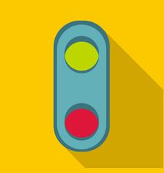 Semaphore traffic light icon flat style vector