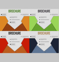 Set of abstract layout brochure cover design info vector