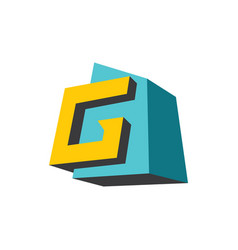 sign of the letter g vector image