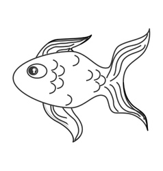 Single goldfish icon vector