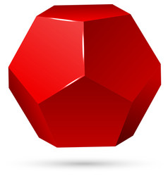 single red dodecahedron vector image
