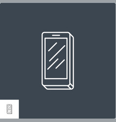 Smartphone related line icon vector
