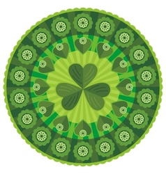 St patricks day badge pattern vector