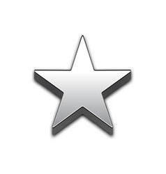 star isolated 3d web icon vector image