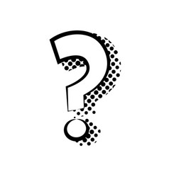 sticker in form a question mark flat vector image