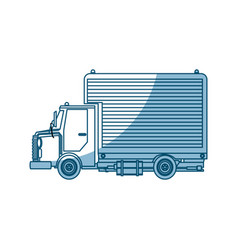Truck delivery cargo service design - shadow vector