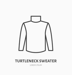Turtleneck sweater flat line icon cold weather vector