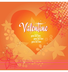 Valentine love heart background vector image