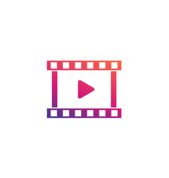 Video logo element icon vector