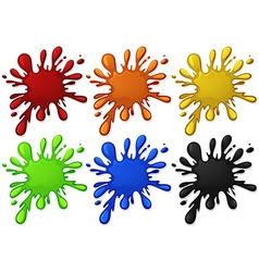 Water splash in six colors vector