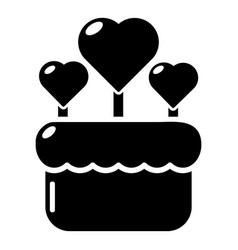 wedding cake icon simple style vector image