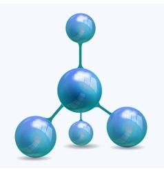 blue molecule structure vector image