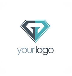 diamond abstract logo vector image