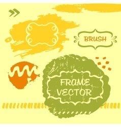 Grungy background and frame vector image vector image