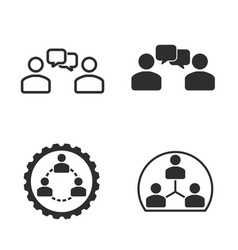 human interaction icon set vector image