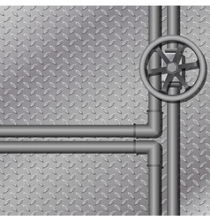 industrial metal background vector image vector image