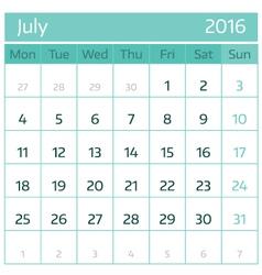 July vector image