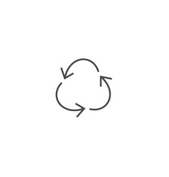 recycling ecology thin line icon vector image vector image