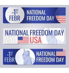 Web banners set for National freedom day USA vector image vector image