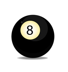 Ball eight vector image vector image