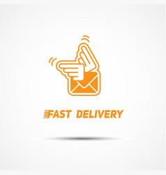 delivery logo vector image vector image
