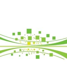 geometrical tiles set - green concept vector image