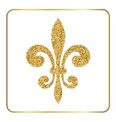 Golden fleur-de-lis heraldic emblem 3 vector image vector image