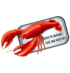 Lobster seafood can concept vector