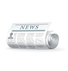 Newspaper rolled vector image