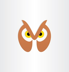 owl head icon design vector image