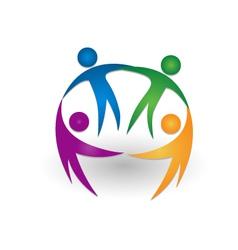 People together teamwork logo vector