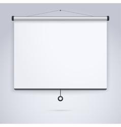 Presentation Empty Projection screen vector image vector image
