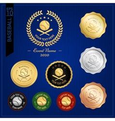 Set of baseball badge label or emblem for sport vector image